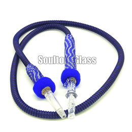 Wholesale Soulton Glass shisha hose Colorful Washable hookah hose PU Leather Shisha Hookah Hose Length cm Handle cm HS