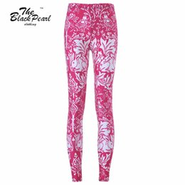 Free shipping New 2015 Women Sport Pants Womens Trousers Fashion Red cute rabbits printing Pant Capris Cute sportswear Fitness