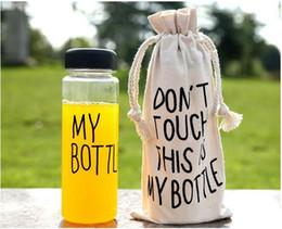 Wholesale Hot plastic sports water bottle Garrafa de agua Stylish simplicity my bottle ml whey protein my bottle with bag Free DHL Fede