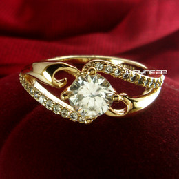 Size 7.5 and 8 18K Gold GP Ring Sapphire Engagement Jewelry (r233)