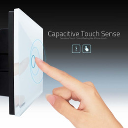 Wholesale HOT Gang Livolo Crystal Glass Smart Touch Switches Panel Control Home Light photoelectric modern light switches switch cover