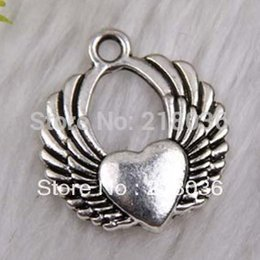 200pcs Vintage Silver Heart Alloy Floating Locket Charms Pendants For Bracelet Necklace Accessories DIY Jewelry HOT Girls Bijoux C451