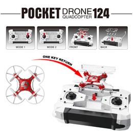 Wholesale Dron Pocket Dron Drone Quadcopter Headless Mode One Key Return RC Helicopter Quadcopter UAV RTF GHz Tiro CX Trendy