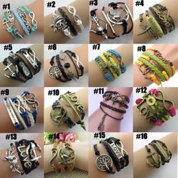 new Infinity bracelets HI-Q Jewelry fashion Mixed Lots Infinity Charm Bracelets Silver lots Style pick for fashion people E27J