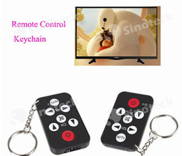 Wholesale Remote Control Keychain Mini Infrared Keys Key Ring Mini Universal IR For TV Set Black Free DHL Factory Direct