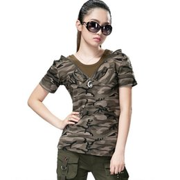 Women Tees Camouflage Outdoor Clothing Women T-Shirt Short Sleeve Army fans T Shirts Slim Women Cotton T Shirts