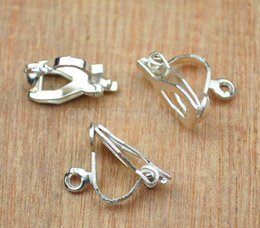 300pcs silver,gold Plated Clip on Earring earrings Ear Loop Jewellery Finding 12*8mm lead and nickle free