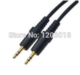 Wholesale 3 mm Male to Male mm Audio Extension Cable gold M for iphone ipod MP3 MP4 Player phone