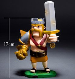 Wholesale Clash of clans Barbarian King Archer Queen PVC Action Figure Collectible Toy Dolls Christmas Gift