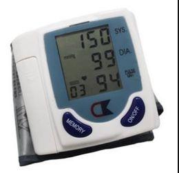 Wholesale Home Automatic Digital LCD Wrist Blood Pressure Monitor Heart Beat Meter Sphygmomanometer Prevent Hypertension CK