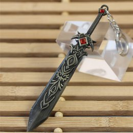 Wholesale Game LOL Garen Arms Vintage Cool Key Rings League of legends Weapon Car Key Chain Men Ring Chain Good Quality Best Gift