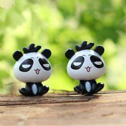 Sale mini cute animals panda dolls fairy garden miniatures gnome moss terrarium decor resin crafts bonsai home decor for zakka
