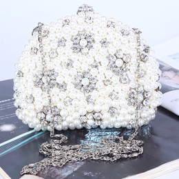 Wholesale Factory brand new handmade perfect beaded sparkles evening bag clutch bag with satin for wedding banquet party porm(More colors)