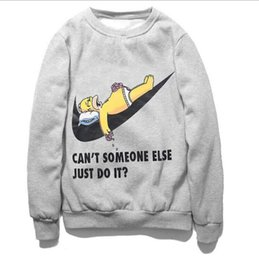 Wholesale 2016 hip hop hoodie Bart Simpson creative print D sweatshirt the funny cartoon just do it letter brand fleece women men hoodie