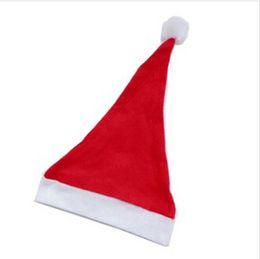 Wholesale 1200pcs Christmas Hat Caps Non woven Fabric Hat Santa Claus Father Cotton Cap Christmas Gift Hats