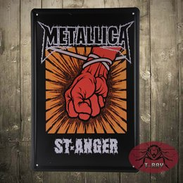 Wholesale Vintage Metallica PAINTING Antique Metal Art Poster Tin Signs Home Club Bar Cafe Wall Decoration Painting