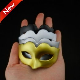 supper cute mini mask Christmas gift Venetian masquerade ball decoration Carnival Wedding party mask gold silver black white free shipping