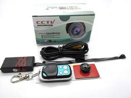 Wholesale Caméra HD P Spy caméra cachée DVR Video Module DIY Cam T185 Black Box Mini DV de sécurité CCTV avec soutien TF Remote Control Card