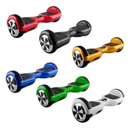 Wholesale Two wheel Electric Scooter Inch mAh Battery Smart Balance Wheels Self Balancing Scooters with black strip bumper Fedex