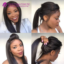 Brazilian hair straight human hair lace front wigs 130% Density Full lace human hair wigs for black women full lace wigs