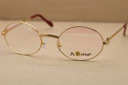 wholesale Larger 1188008 Metal Eyeglasses Exquisite Both men and women Glasses Size:55-22-135mm 18K Gold Brand Eyewear