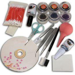 New Pro False Extension Eyelash Glue Brush Kit Set Salon Eyelashes Makeup Tools Women Beauty Tool