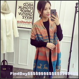 Wholesale New Taipei European Wind deer large air conditioning warm winter scarf shawl