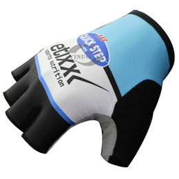 FREE SHIPPING 2015 ETIXX QUICK STEP PRO TEAM BLUE Cycling Bike Gloves Bicycle Gel Half Finger Glove