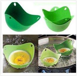 Wholesale Eco friendly silicone egg Boiler egg poacher tool non toxic no stick Soft Safe Poach Pod peach pod egg boiler Chilren bow CCC1414