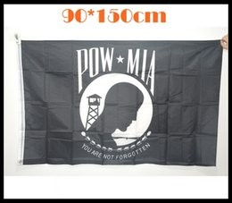 Wholesale American POW MIA flags YOU ARE NOT FORGOTTEN Flags feet cm Anti war Flags polyester American prisoners of war flags