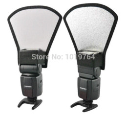 Flash light reflector reflective shovel roof reflector diffusers softbox Silvery white reflector Photo Studio Accessories