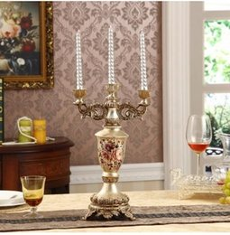 Wholesale The Christmas Candle Candlestick resin crafts creative Home Furnishing Europe Home Furnishing novel wedding candles support the mixed ba