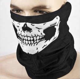 Wholesale-Hot Selling Skull Ghost Face Windproof Mask Outdoor Sports Motorcycle Warm Ski Caps Balaclavas Scarf