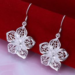 High Quality 925 Sterling Silver EARRINGS Pretty Flower Women's Silver Earrings Jewelry Good Gift E035