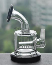 Plates-formes de verre hitman en Ligne-2015 Hitman Glass Sundae empilage pétrolières en verre tubes d'eau bong de verre Deux functon Inline perk tuyau d'eau de tabac pipe bong fumer