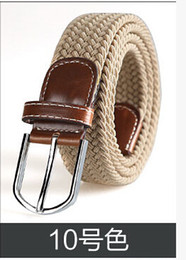 Femmes boucles de ceinture gros en Ligne-Gros-élastique ceinture élastique tissé de 31 hommes de ceinture tissés aiguille édition han ceinture boucle de ceinture de marée de la mode des femmes de couleur gratuit