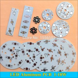 Wholesale LED High power PCB Board Plate Lamp Panel Aluminum Heat sink W W W W W W W W Round Rectangle LED Lamp Base