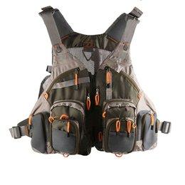 Wholesale Fly Fishing Backpack Chest Mesh Bag Vest Multi pocket General Size Adjustable