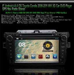 Wholesale 8 quot Android CAR DVD Player for Toyota Corolla GPS Nav Radio Stereo Bluetooth Wifi G Free GB Card SCYF0489