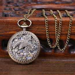 2015 de la manera de la manera hueco del bronce del fob de bolsillo del collar la mejor calidad pendiente del collar 10Pcs / Lot libera la nave desde los mejores relojes de moda de calidad proveedores