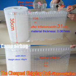 Wholesale 35CM Wide Roll M roll Inflatable Air Dunnage Bag Air Column cm Bag Cushion Packaging Bubble Wrap More Than M With A Free Pump