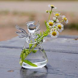 10pcs lot angel glass vase flower pots planters home decorative vase wedding decoration christmas tree decors gift for beloved vase panter