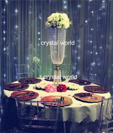 Wholesale crystal acrylic centerpieces for wedding table artificial flower stand for wedding table decoration