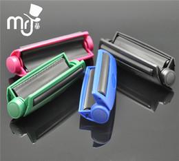 Wholesale 2pcs MM plastic Manual Cigarette Tobacco Injector Rolling Machine case Roller Maker tube filling herb grinder