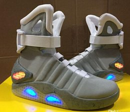 Wholesale With Original Box Tick AIR MAG LED Mens Mag back to the future Basketball Shoes Mens mcfly lighting Luxury Grey Boots size