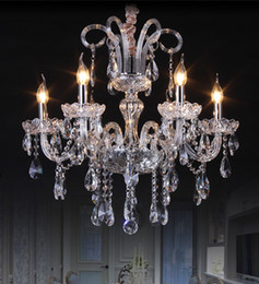 modern Dining room 6 pcs led crystal chandelier crystal lighting baby room kids room hanging crystal lamp bedroom home pendant lighting