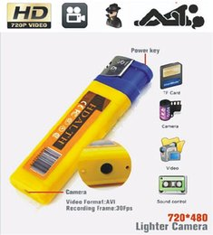 Mini camera DVR mini lighter camcorder yellow DVR smallest Camera vedio recorder free shipping by DHL