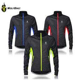 Free shipping! WOLFBIKE Mens Winter Cycling Jackets Windproof Bike Jerseys Bicycle Coats Clothings Long Sleeve Fleece Thermal Wear BC216