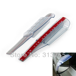 3pcs / lot de pluie en plastique flexible bricolage Side Car Rétroviseur Garde Shade Sun Visor Shade Bouclier noir et transparent Universal à partir de protéger plastique noir fournisseurs