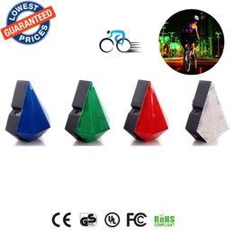 Descuento rayos láser Nueva llegada del deslumbramiento para bicicleta Ciclismo 8 LED 2 de rayo láser de cola trasera de luz de seguridad de diamantes Advertencia batería de litio recargable